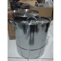 Supra Panci 30 QT + STEAMER Stock Pot Besar Stainless Steel kukus