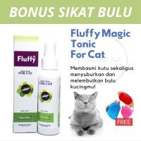 BONUS SISIR BULU Obat Spray Anti Kutu Kucing Bahan Alami Aman Terjilat - 30 ml