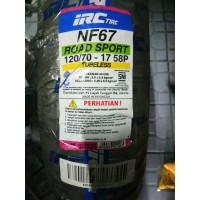 Ban Motor Vixion Blkg IRC Tire NF67 120/70 Ring 17 58P Tubeless