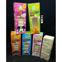 Mainan Balok Kayu jenga Uno Stacko mainan edukatif keluarga