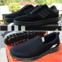 paket bundling sepatu sekolah hitam polos full black