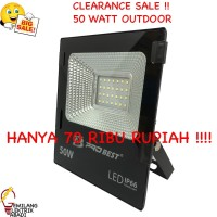 LAMPU TEMBAK LED SOROT 50 WATT 50W OUTDOOR FLOODLIGHT IP66 WATERPROOF
