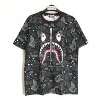 Bape Space Camo Shark T-shirt Black 100% Original
