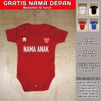 Jumper Bayi Indonesia NEW GRATIS NAMA DEPAN romper bayi baju bola bayi