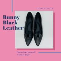 Flat Shoes Wanita Hitam Kulit Sapi Asli Size 37 Sepatu Ballet