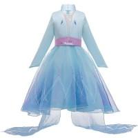 Baju Dress Kostum Anak Frozen 2 Princess Elsa Long Sleeve 4t-9T Import