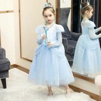 Baju Dress Pesta Anak Long Sleeve Princess Cinderella Elegant Import