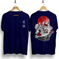T-shirt Samurai Bulan / Baju Kaos Distro Pria Wanita Cotton 30s