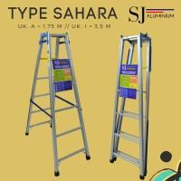 Tangga Lipat Aluminium Sahara Biru 1,75 m/175 cm - Kuat & Berkualitas