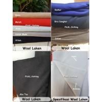 Bahan Kain Wool Laken Cotton Katun Import Celana Pants Polos Motif