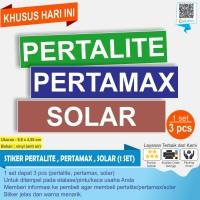 STIKER PERTALITE PERTAMAX DAN SOLAR 1 SET 3 PCS