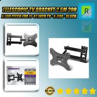 Telescopic TV Bracket 2.5m 200 x 200 Pitch for 17-42 Inch TV - X-200 -