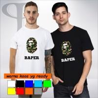 Kaos parody bape kaos plesetan baper pria dan wanita