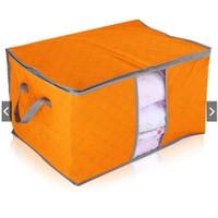 Tas Penyimpanan Bed Cover Seprei Storage Bag Bamboo Model Tidur - Hijau
