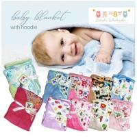 selimut bayi topi carter double fleece / selimut topi carter