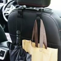 gantungan tas belanja barang headrest hook hanger seat organizer mobil