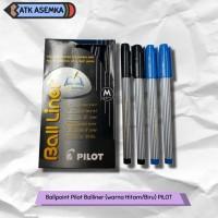 Ballpoint Pilot Balliner (warna Hitam/Biru) PILOT