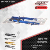 Swing arm arem qtt Satria fu150 hexagonal HRS-01 mounting atas
