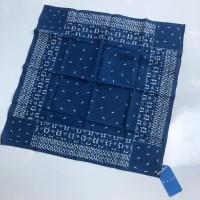 bandana batik tulis indigo motif 7