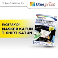 Kertas Transfer / Transfer Paper Dark BLUEPRINT A4 - Tshirt Katun