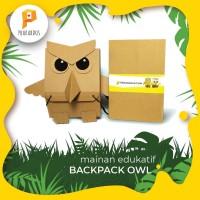 Mainan edukasi PRAKARDUS tas backpack OWL dr kardus anak-anak kreatif