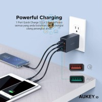 Aukey PA-T14 Charger 3 Output QC 3.0 (Resmi) Aukey Indonesia