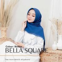 Hijab Segi Empat polos - Benhur | Jilbab Square Harian Biru