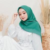 Jilbab Segi Empat   Jilbab Harian   Hijab Harian Hijau Tosca