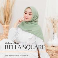 Hijab Square Harian Polos - Olive   Jilbab Harian  Kerudung Segi Empat