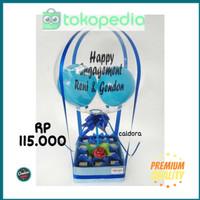h110[KB] Box Air Balloon - Snack bucket / snack buket / snack bouquet