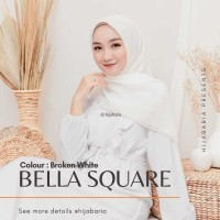 Kerudung Segi Empat   Jilbab Bella Square - Broken White