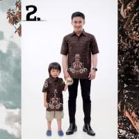 Couple Batik Hem Ayah dan Anak Cowok Baju Anak Hem Pria Hem Batik