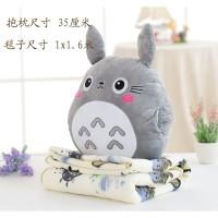 Balmut Bantal Selimut Boneka Totoro Selimut Motif
