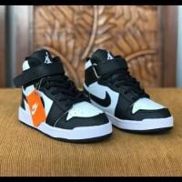 Sepatu Anak Nike Air Jordan High Hitam Putih Sekolah Laki Laki Dan