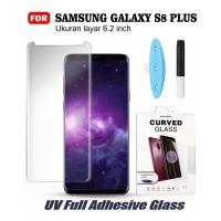 Tempered Glass Samsung S8 Plus Premium Full Half Curved Full Glue UV