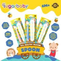 Sugar Baby Healthy Silicone Spoon with case sendok makan bayi silikon