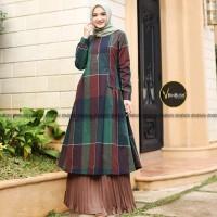 Tunik Muslimah Set Rok Tartan Semiwol Anggun Ori by Binbush