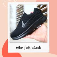 sepatu hitam polos nike full black