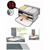 HL12 Koper Tas Tempat Penyimpanan Pakaian / Bamboo Storage Box Organiz