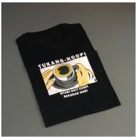 T-shirt Tukang Ngopi / Baju Kaos Distro Pria Wanita Cotton 30s