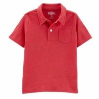 Baju anak kaos polo branded Oshk*sh B G*sh merah 1-5 T