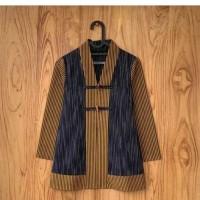 blouse wanita atasan tunik ethnic tenun lurik hujan gerimis AT002