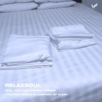 Sprei Hotel Fitted Relaxsoul Lengkap 100-160-180-200x200