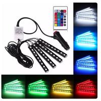 LED LAMPU KOLONG Remote Dekorasi Dashboard Mobil 16 Warna DRL RGB