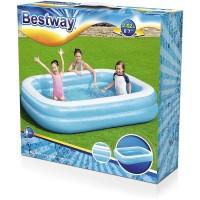 Kolam Renang Anak Blue Rectangular Family Pool Bestway 262cm #54006