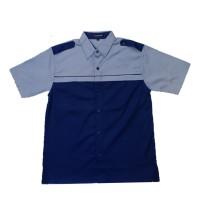 baju polos kerja lapangan/promosi /kemeja/seragam/drill/otomotif - Dongker, S