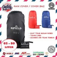 RAIN COVER TAS CARRIER 65-80 LITER COVER BAG RAINCOAT WATERPROOF MURAH