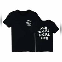 Kaos Jumbo Anti Social Social Club 2XL-6XL - Putih, L