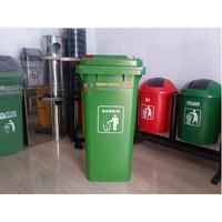 Tempat Sampah Roda 120 liter / Tempat Sampah Dorong