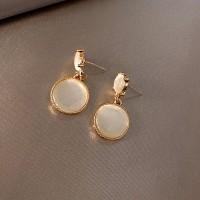 Silver 925 Anting Premium Aksen Batu Permata Simple Earrings